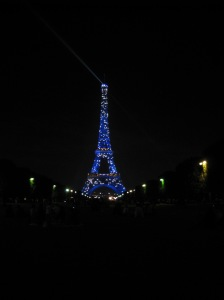 10pm at the Eiffel Tower