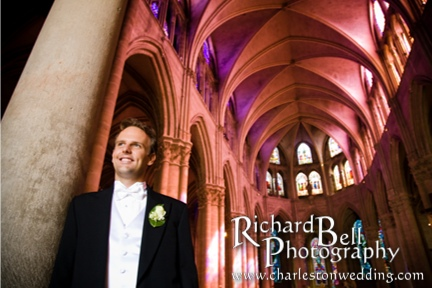 There were three weddings scheduled at this Beautiful Gothic Cathedral, so we didn't have much time for pictures.  I got more time with Alexander beforehand, but unfortunately didn't have as much time with Louise.