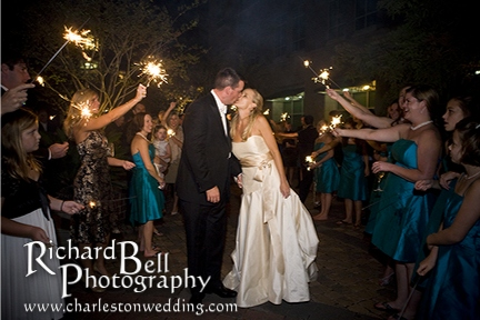 And just in time...their sparkler leave!
