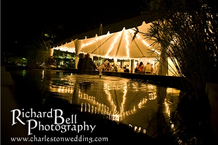 The William-Aiken House is an abosolutely breathtaking location for any event, and I absolutely loved the lighting under the tent for Renee and Derek's rehearsal dinner!