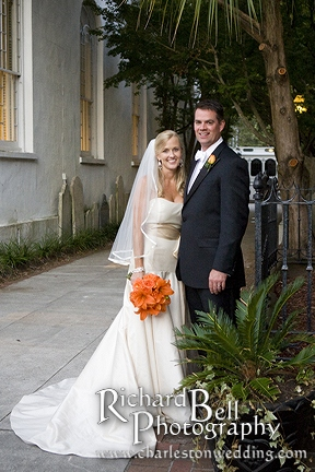 Renee and Derek outside First Baptist Church, downtown Charleston, SC
