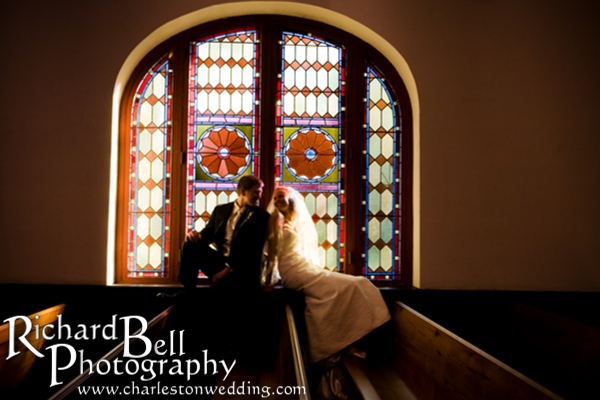 This was Katie's Special request, to have a picture in the stained glass window.