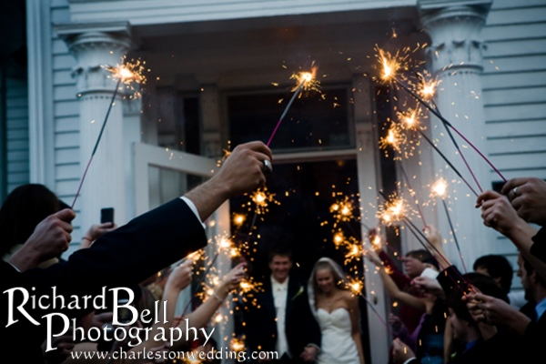 They left the Wycliffe House to a fanfare of sparklers.