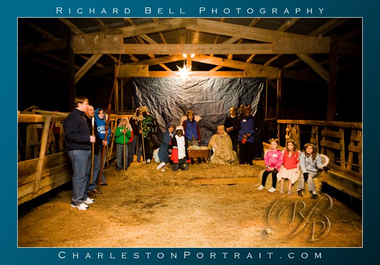 The live Nativity & Christmas story reading from the Bible completed the wonderful evening